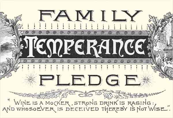 family temperance pledge