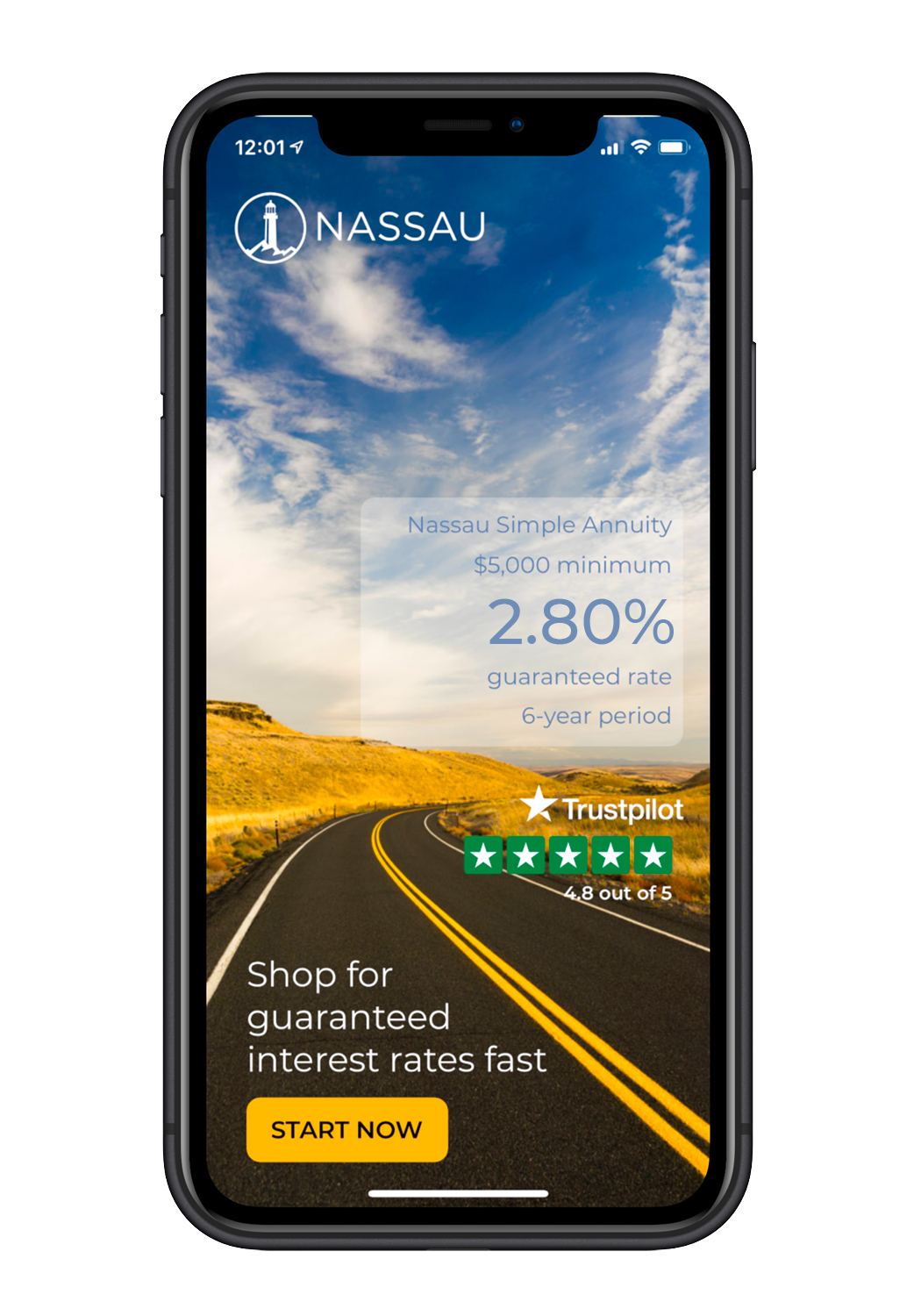 Nassau IOS App screen