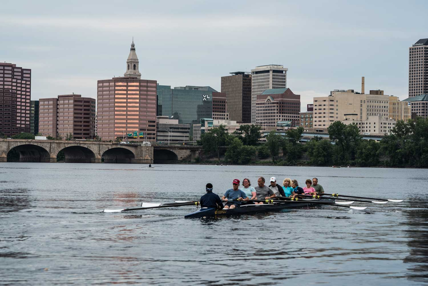 photo of rowing on the Connecticut River